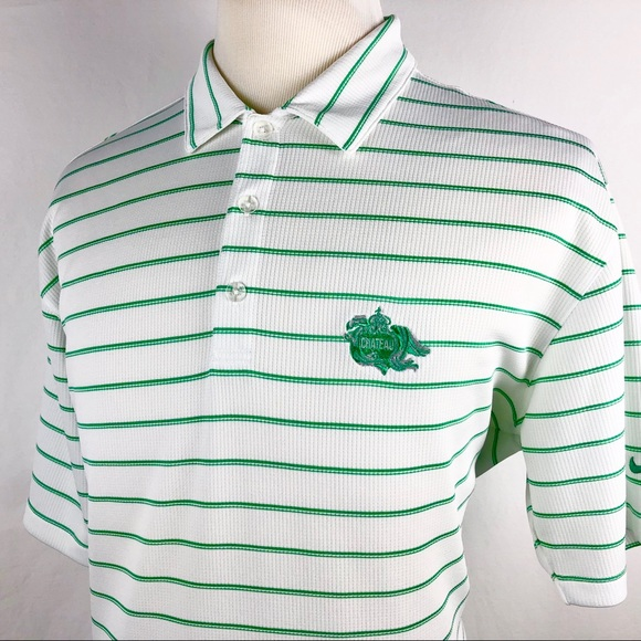 77eceff8 Nike Shirts | Golf Polo Shirt Mens Xl Striped White Green | Poshmark